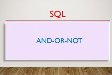 SQL AND-OR-NOT
