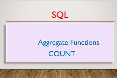 SQL AGGREGATE FUNCTIONS - COUNT