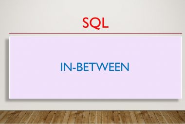 SQL - IN, BETWEEN